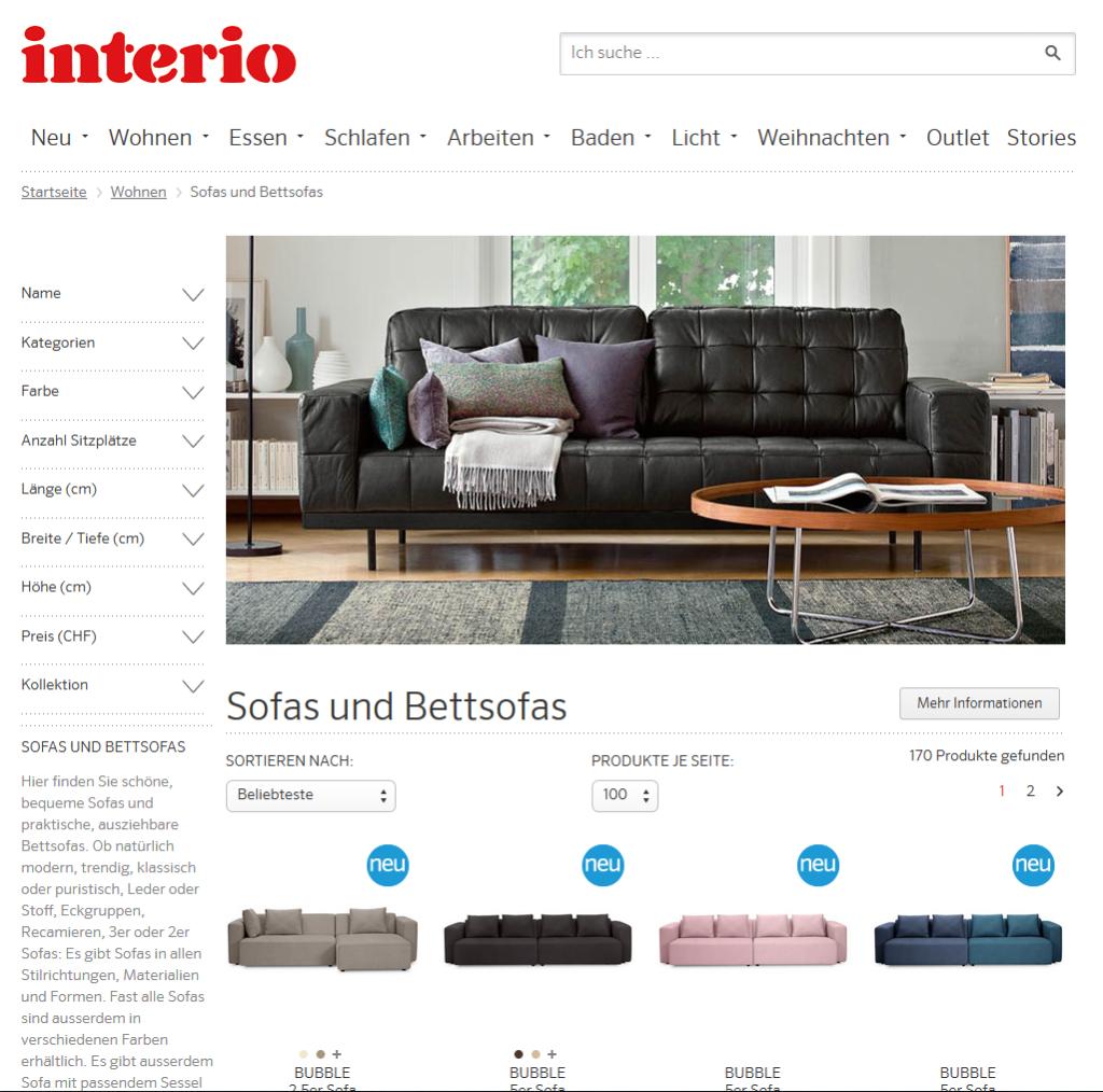 Online Shop von Interio Sofa