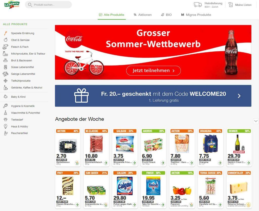 LeShop Online Shop, Online Einkaufen