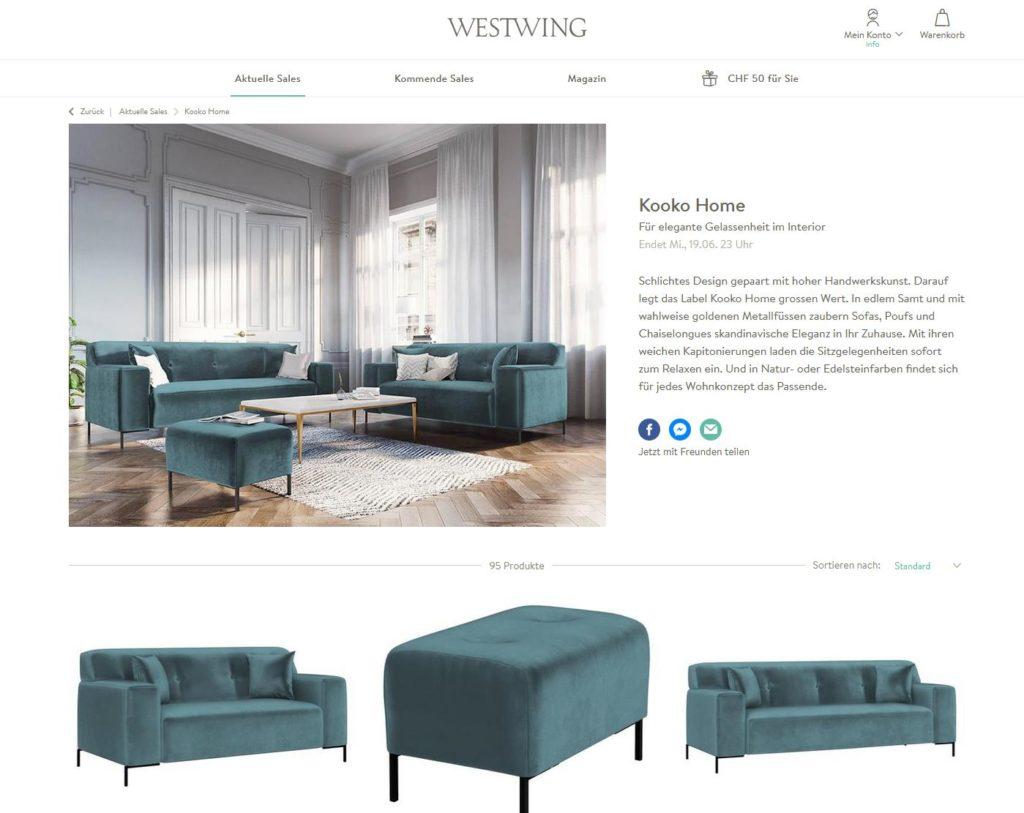 Website von Westwing Sofa online Kaufen